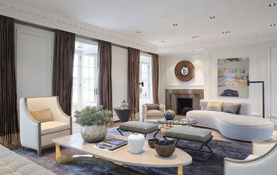 Houzz Tour: Ekstravagant luksus i London-lejlighed fra 1830'erne