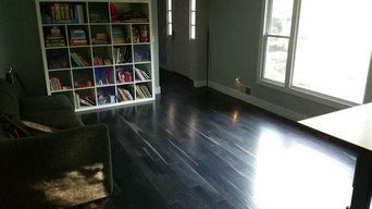 Ebonized white Oak floors