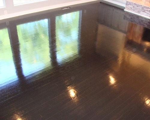 Ebony High Gloss Wood Floors