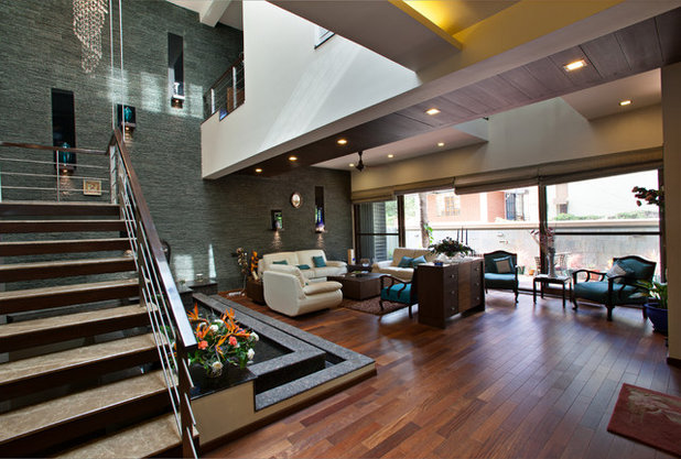 Contemporary Living Room by Advani and Associates