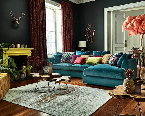 Rooms of Inspiration: Bright and Eclectic Living Room |Eclectic Room Design