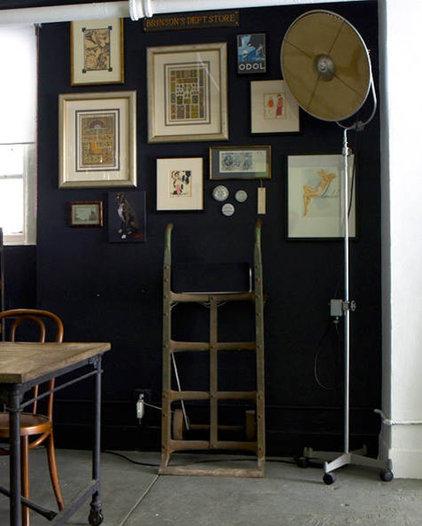 Eclectic Living Room Eclectic and dark walls