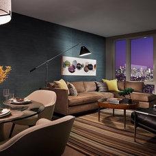 Eclectic Living Room by Terrat Elms Interior Design