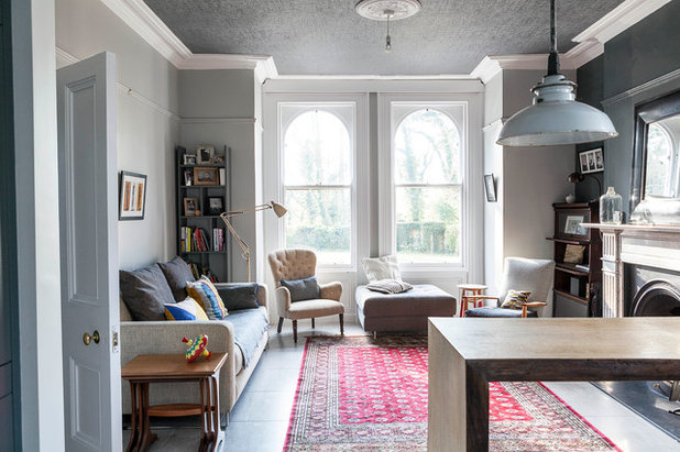Transitional Living Room by Ruth Maria