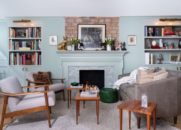 Eclectic Living Room by ACM Interiors