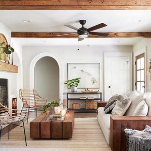 Eclectic Coastal Living Rooms - Ottawa, ON