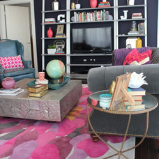 Eclectic Living Room by Cure Design Group