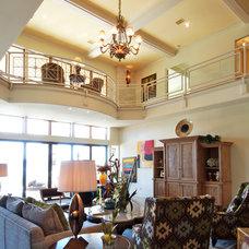 Eclectic Living Room by Zbranek & Holt Custom Homes