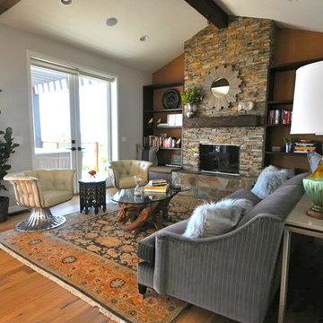 Eclectic, Cozy Living Room