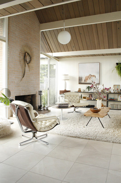 Midcentury Living Room Eclectic Eichler living room