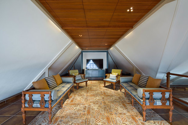 Eclectic Family Room by Shubham Photography
