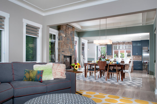 Contemporary Living Room by Mike Schaap Builders