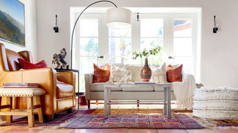 Eclectic Global Hacienda Living Room