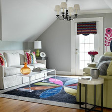 Eclectic Living Room by Kandrac & Kole Interior Designs, Inc.