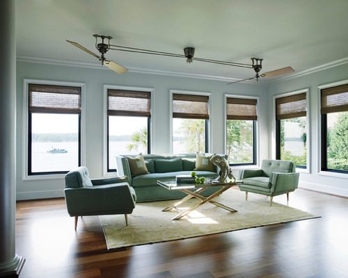 Ceiling design for living room with fan