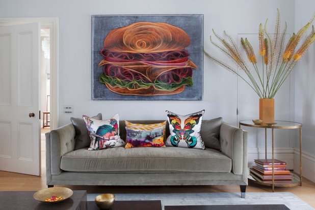 Eclectic Living Room by Amelia Carter Interiors