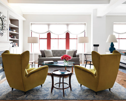 Mustard chairs home design ideas pictures remodel and decor for Mustard living room ideas