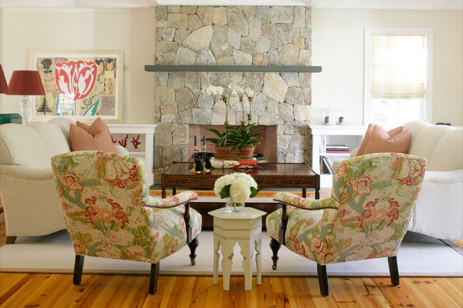 Eclectic Living Room by Design House