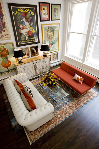 eclectic living room by ABCD Design LLC
