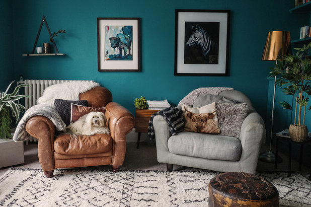 Eclectic Living Room by FIONA DUKE INTERIORS