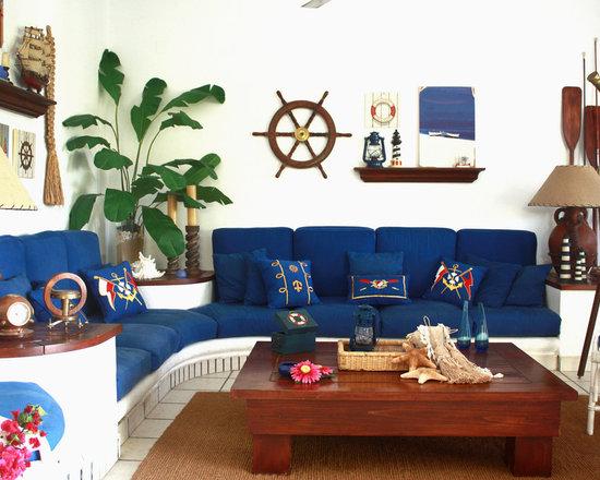 nautical theme. living room design ideas, remodels & photos | houzz
