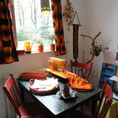eclectic living room 1970s Dutch living room