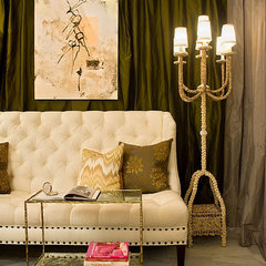 eclectic living room by huntley & co