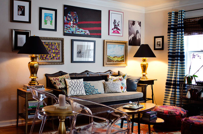 Eclectic Living Room by Birdhouse Interior Design