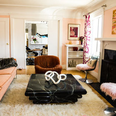 Eclectic Living Room by ariane bartosh interior design