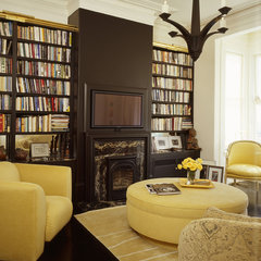 eclectic living room by Jerry Jacobs Design, Inc.