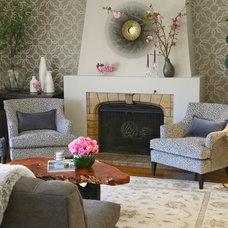 Eclectic Living Room by JL Interior Design, LLC