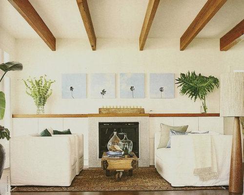 Palm tree print living room design ideas renovations photos for Palm tree living room ideas
