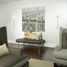 Mediterranean Living Room by KSID Studio, LLC