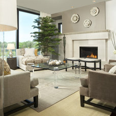 modern living room by KSID Studio, LLC