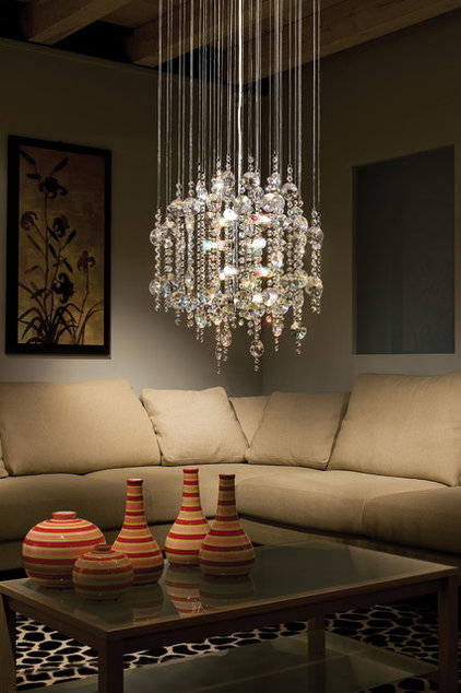 Eclectic Living Room by Littman Bros Lighting