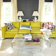 Eclectic Living Room by Luck Stone Center