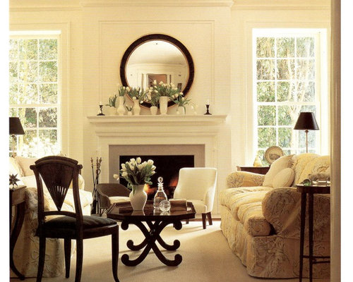 Mirror over mantel houzz for Over the mantel decor