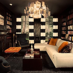 eclectic living room by NB Design Group, Inc