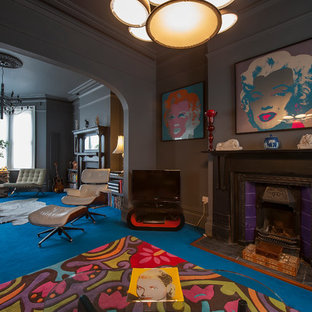 mesmerizing artsy eclectic living room | Andy Warhol | Houzz