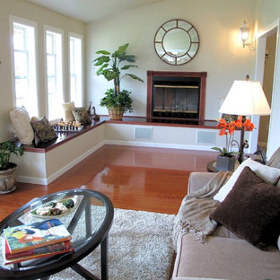 Living room - eclectic living room idea in Seattle