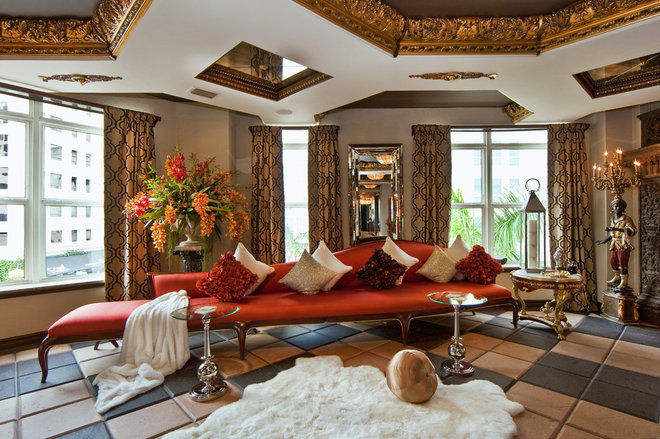 Eclectic Living Room by SRQ360 Photography