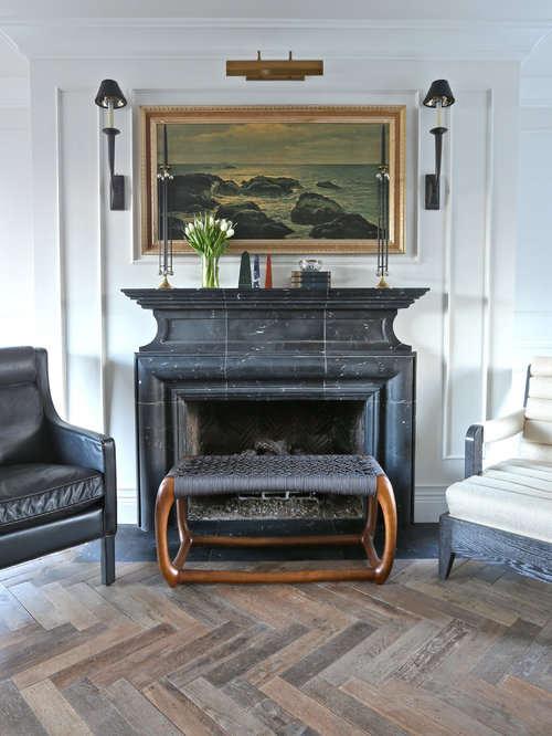Black Marble Fireplace Home Design Ideas