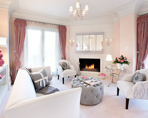 Beige Living Room Design Ideas, Renovations & Photos with ...