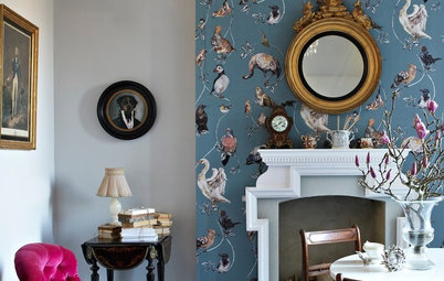 Fire Away: 6 Ways Fireplaces Can Wow With Wallpaper