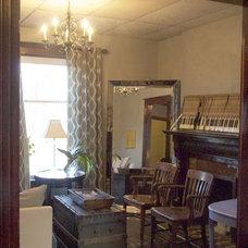 Eclectic Living Room by Lauren Mikus
