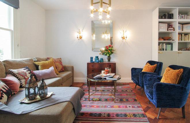 Eclectic Living Room by Yoko Kloeden Design