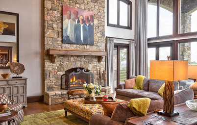 Houzz Tours Tour Roughing Up A Fancy Mountain Home