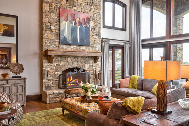 Best Rustic Living Room by Dianne Davant and Associates