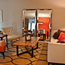 Eclectic Living Room by Laura Boisvert Designs