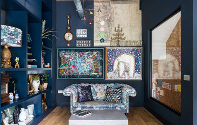 9 Ideas for Designing a Navy Blue Living Room